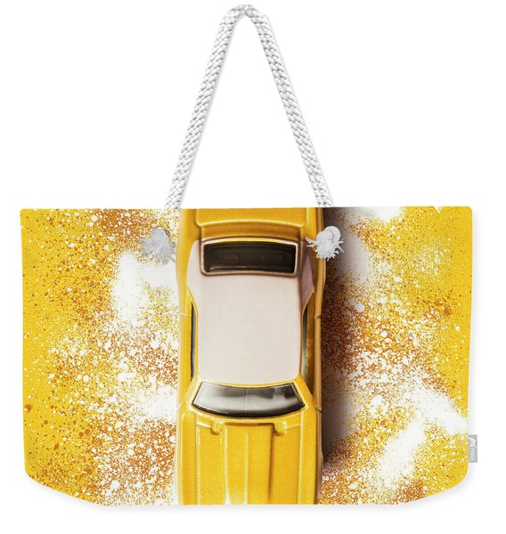 Yellow Street Machine Weekender Tote Bag