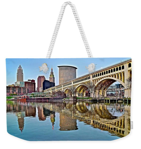 Yet Another Picture Perfect Day In Cleveland Weekender Tote Bag