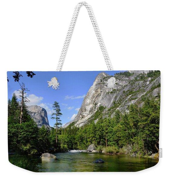 Yosemite Mirror Lake, Lower Pool Weekender Tote Bag