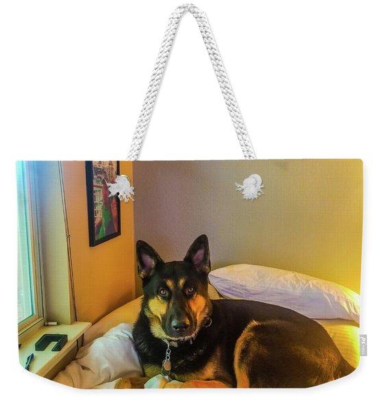 You Caught Me Weekender Tote Bag