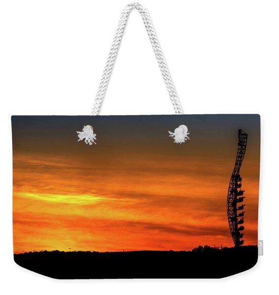 Vertical Roller Coaster At Sunset Weekender Tote Bag
