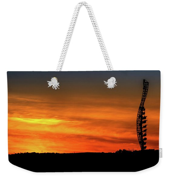 Vertical Roller Coaster At Sunset Weekender Tote Bag