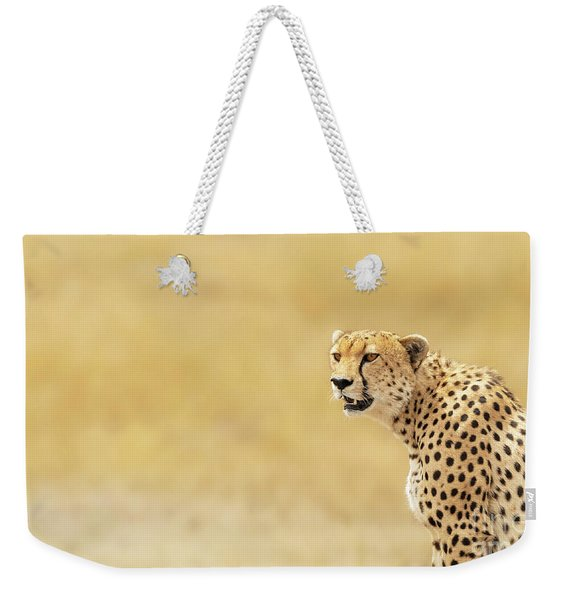Young Adult Cheetah Banner Weekender Tote Bag