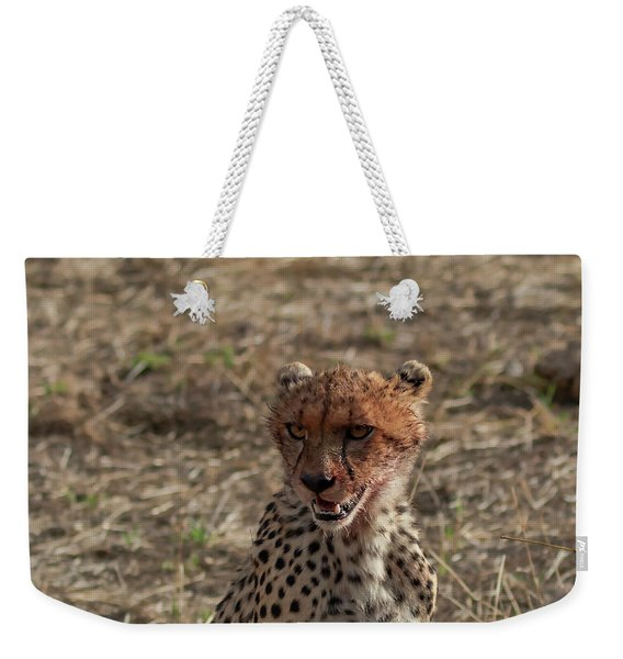 Young Cheetah Weekender Tote Bag