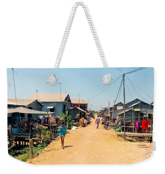 Young Girl - Houses On Stilts - Siem Reap, Cambodia Weekender Tote Bag