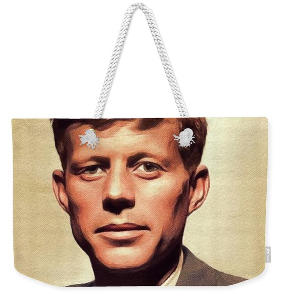 Young John F. Kennedy Weekender Tote Bag