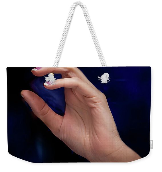 Weekender Tote Bag featuring the photograph Your Hands No. 5 by Juan Contreras