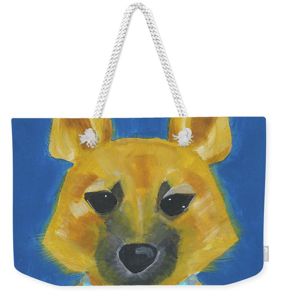 Weekender Tote Bag featuring the painting Yukon by Suzy Mandel-Canter