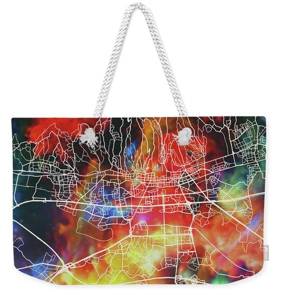 Zagreb Croatia Watercolor City Street Map Weekender Tote Bag
