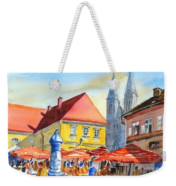 Zagreb Near Dolce Market Weekender Tote Bag