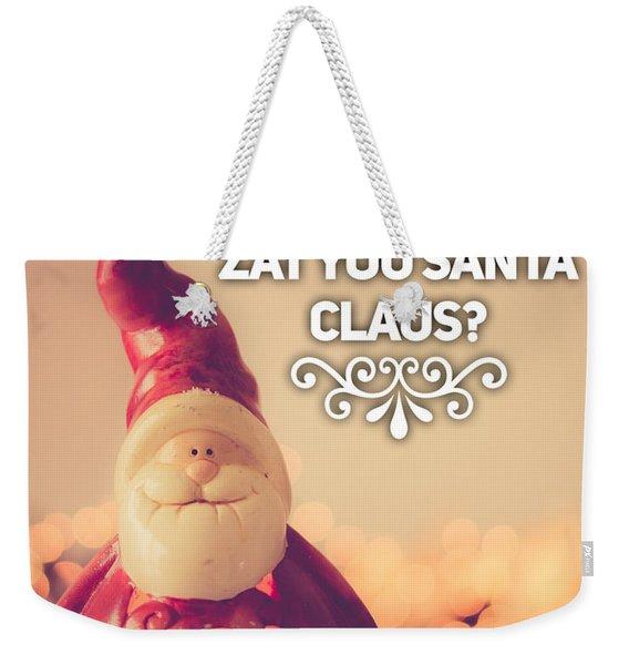 Zat Your Santa Claus Weekender Tote Bag