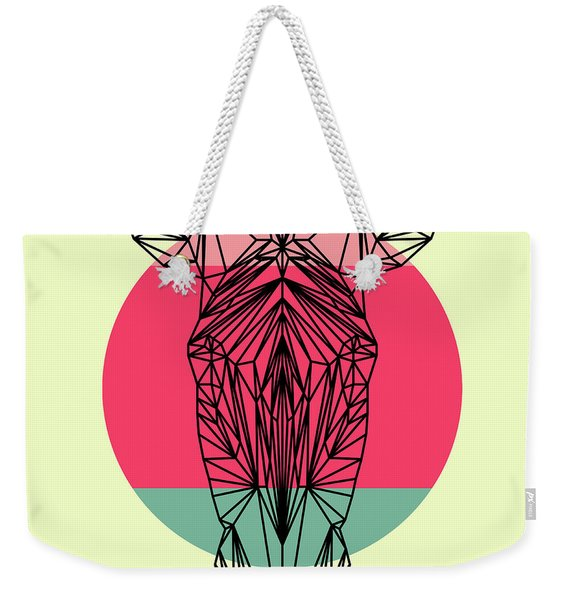 Zebra And Sunset Weekender Tote Bag