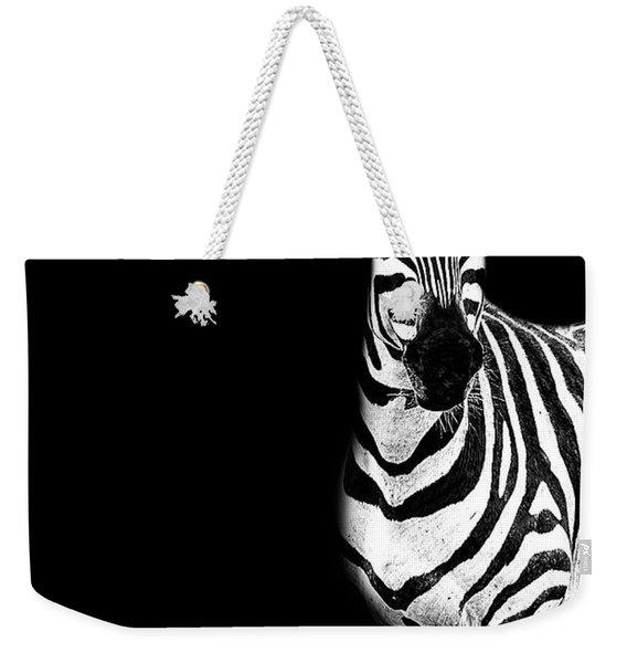 Zebra Drama Weekender Tote Bag