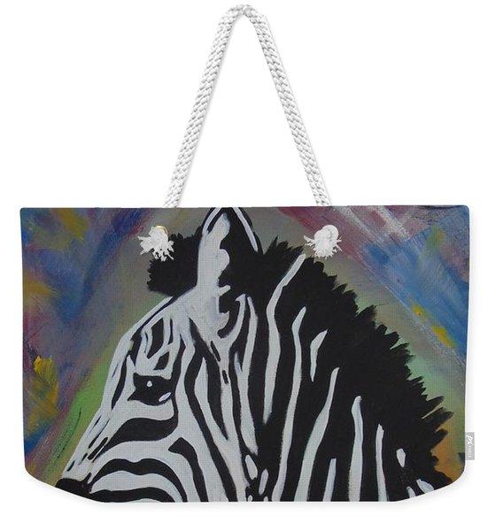 Zebra Drip Weekender Tote Bag
