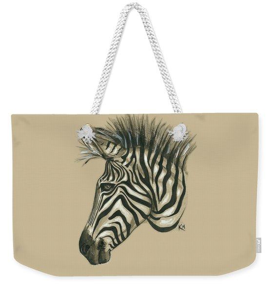 Zebra Profile Weekender Tote Bag