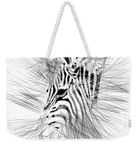 Weekender Tote Bag featuring the digital art Zebrart by ISAW Company