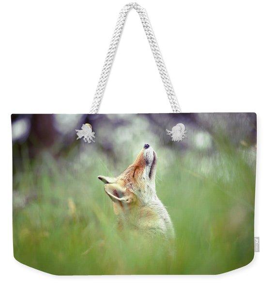 Zen Fox Series - Nose Up In The Air Weekender Tote Bag