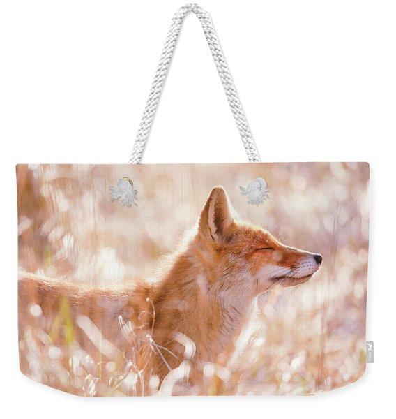 Zen Fox Series - Sofly Smiling Weekender Tote Bag