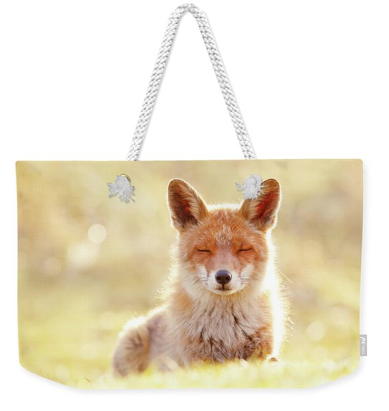 Zen Fox Series - The Chillest Of Foxes Weekender Tote Bag