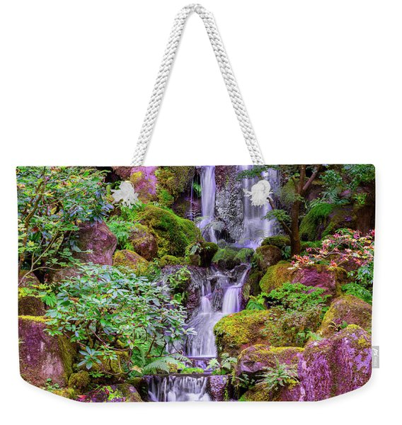 Weekender Tote Bag featuring the photograph Zen Garden by Dheeraj Mutha