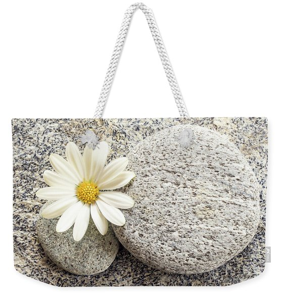 Zen Stone And Daisy Weekender Tote Bag