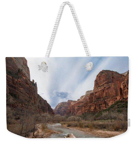 Zion National Park And Virgin River Weekender Tote Bag
