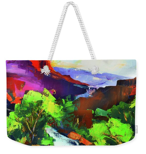 Zion - The Watchman And The Virgin River Weekender Tote Bag