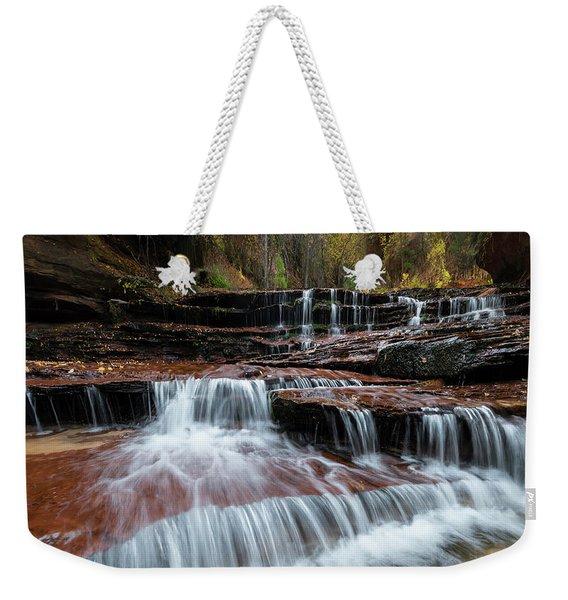 Zion Trail Waterfall Weekender Tote Bag