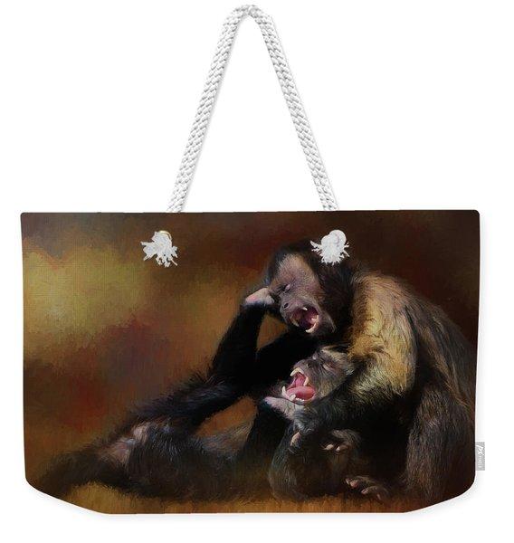 Zoo Monkey's Playing Weekender Tote Bag