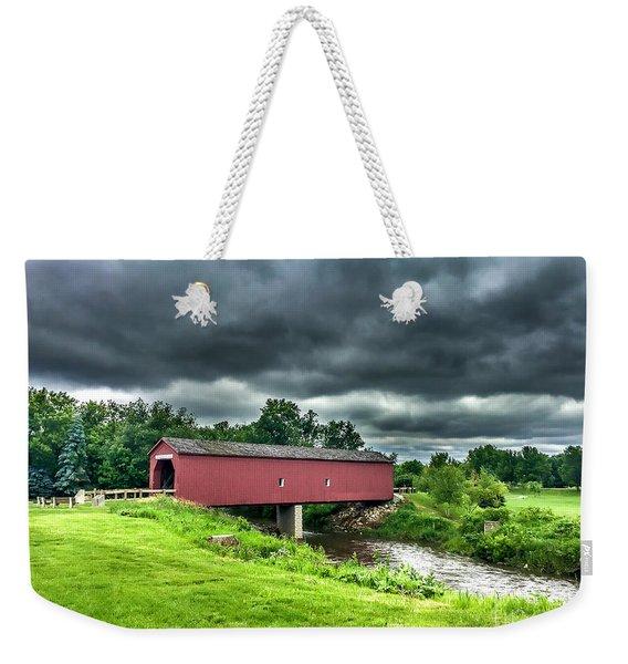 Zumbrota Bridge Thunder Weekender Tote Bag