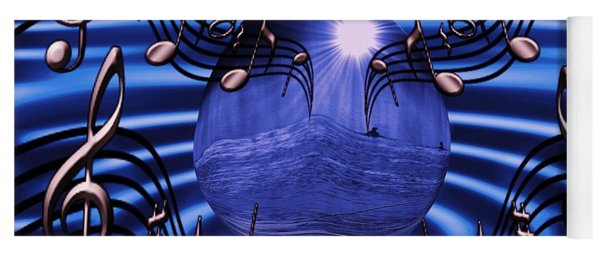 Angelic Sounds On The Waves Yoga Mat