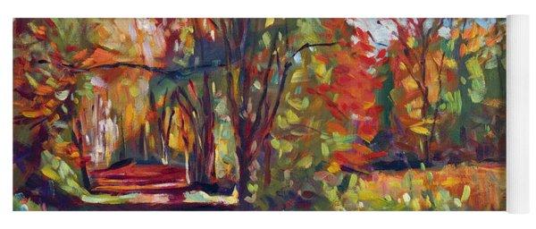 Autumn On The Hudson Yoga Mat