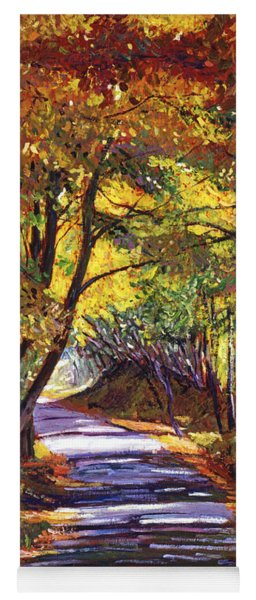 Autumn Road Yoga Mat