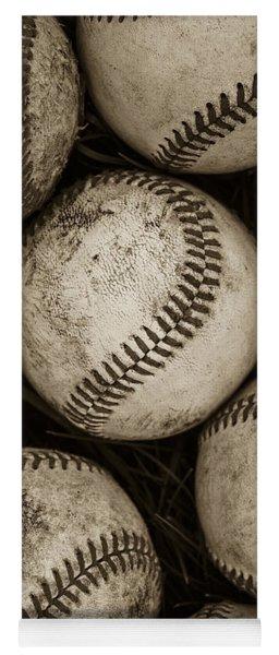Baseballs Yoga Mat