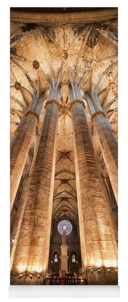 Basilica Of Santa Maria Del Mar In Barcelona Yoga Mat