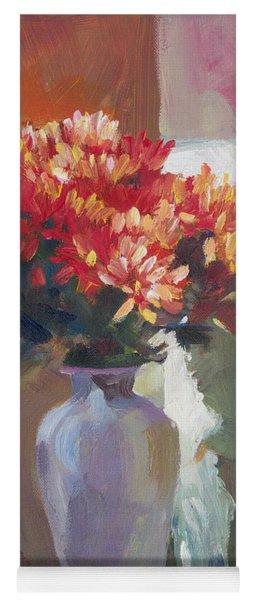 Chrysanthemums In Vase Yoga Mat