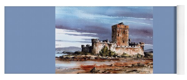 Doe Castle In Donegal Yoga Mat