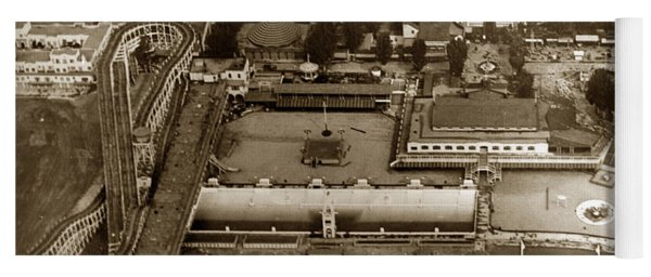 Neptune Beach Olympic Size Swimming Pool And A Roller Coaster Alameda Circa 1920 Yoga Mat