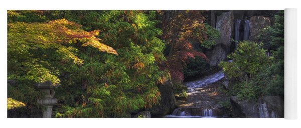 Nishinomiya Japanese Garden - Waterfall Yoga Mat
