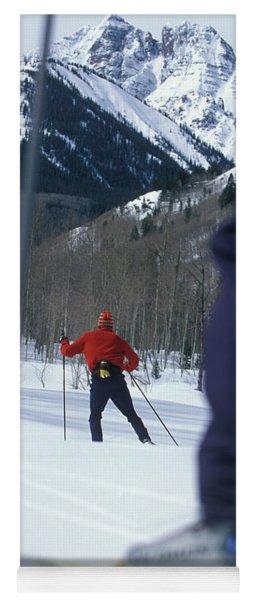 Nordic Skiing Yoga Mat