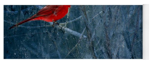 Northern Cardinal Yoga Mat