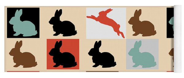 Rabbits Yoga Mat