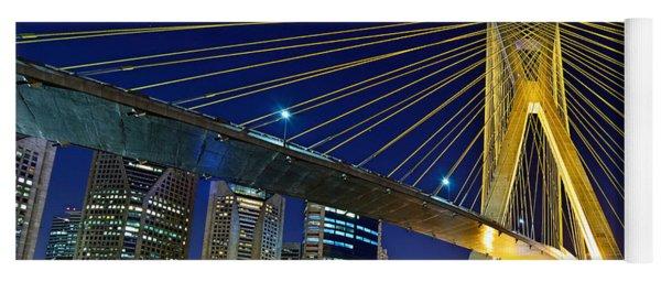 Sao Paulo's Iconic Cable-stayed Bridge  Yoga Mat