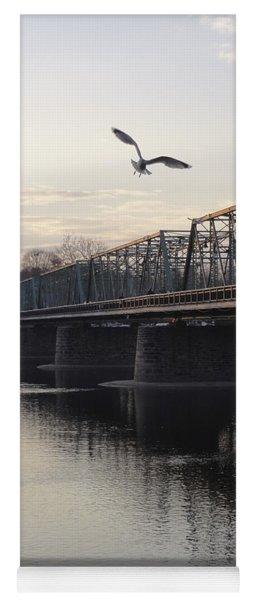 Gulls At The Bridge In January Yoga Mat