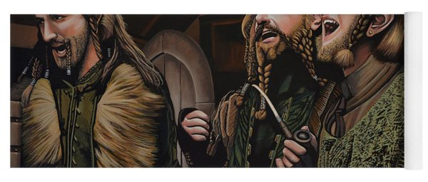 The Hobbit And The Dwarves Yoga Mat