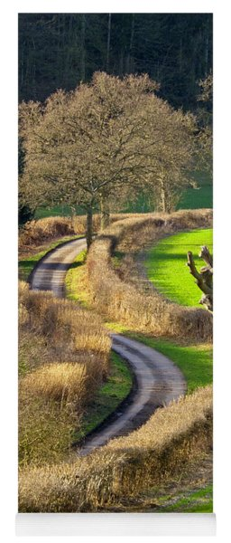 Winding Country Lane Yoga Mat