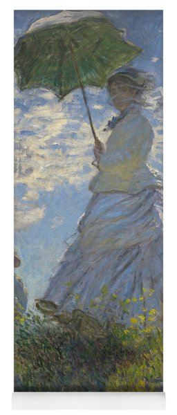 Woman With A Parasol Madame Monet And Her Son Yoga Mat