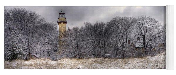 0243 Grosse Point Lighthouse Evanston Illinois Yoga Mat