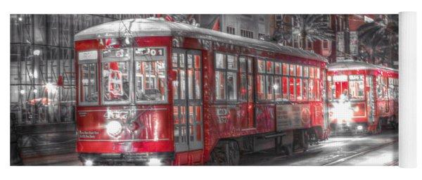 0271 New Orleans Street Car Yoga Mat