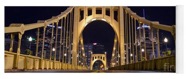 0304 Roberto Clemente Bridge Pittsburgh Yoga Mat